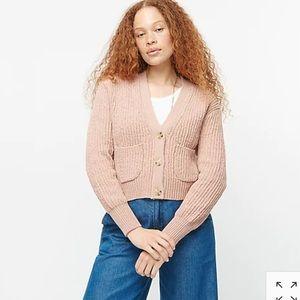 NWT J Crew Cropped patch-pocket cardigan sweater